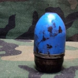 M79/203 Blue plastic inert tp projectile (greasy need cleaning)