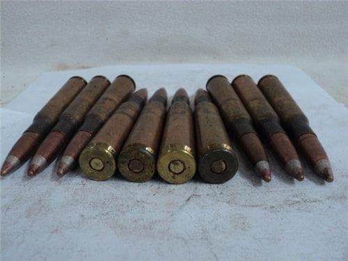 50 cal apit ammo TW-4, U.S. WWII sure fire ammo with talon resized projectile. . 10 round pack.
